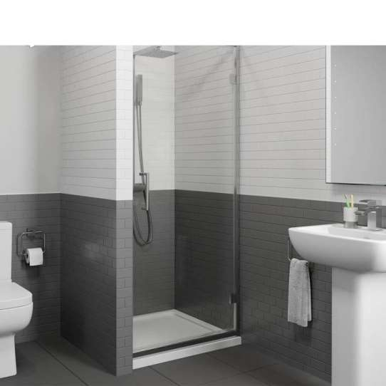 China WDMA Aluminium Profile Bathroom Shower Double Sliding Door Shower Room Shower Cabin Enclosure