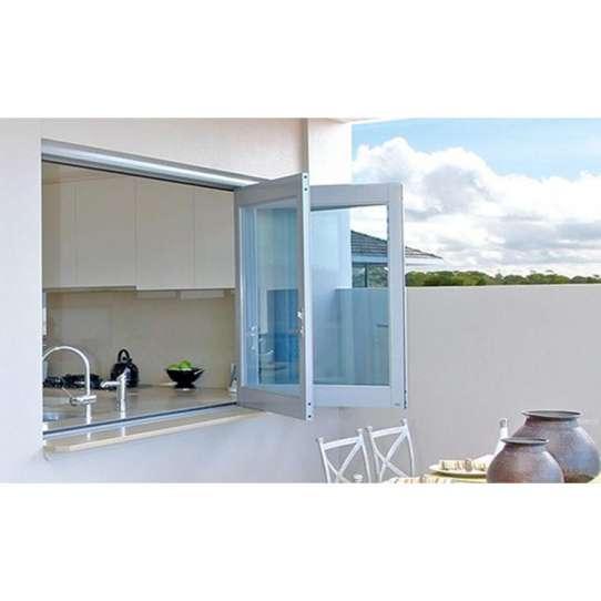 China WDMA Aluminium Thermal Break Frame Tempered Glass Accordion Bi-fold Window With Mosquito Net For Balcony Design