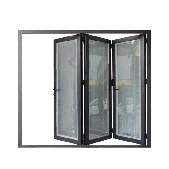 WDMA Aluminum Bi Fold Entrance Door For External Price
