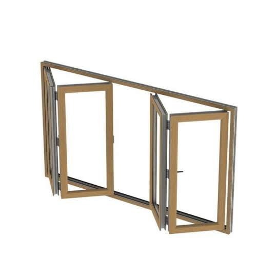 China WDMA triple glazed window Aluminum Folding Window