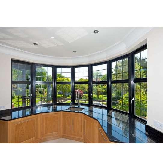 China WDMA Aluminum Casement Window With Modern Iron Window Grill Design On Sales