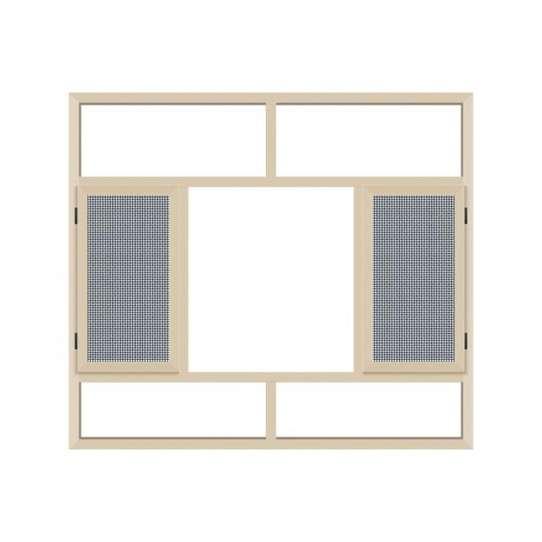 WDMA Aluminum Door Window With Mosquito Net Price For Nepal Market
