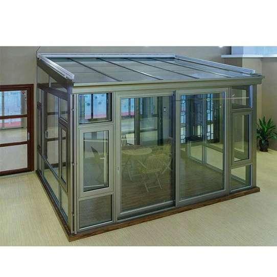 China WDMA Aluminum Flat Roof Sunroom Glass Sunrooms Glass Houses