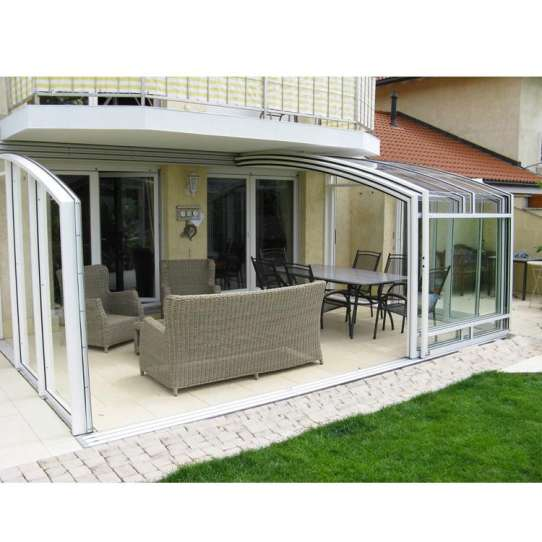 China WDMA Aluminum Frame Sunroom Glass Home Veranda Design For Home