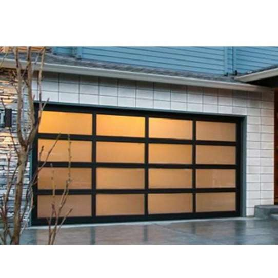 China WDMA Frosted Glass Garage Doors