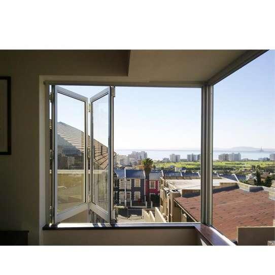 China WDMA Aluminum Horizontal Folding Glass Corner Window Home Use