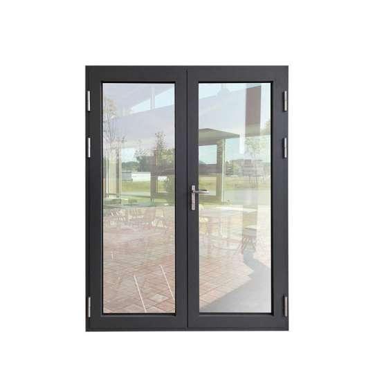 WDMA Aluminum Profile Au Nz Standard Hurricane Impact Hinged Door With Flyscreen