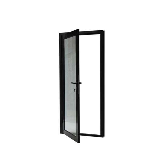 China WDMA Aluminum Profile Au Nz Standard Hurricane Impact Hinged Door With Flyscreen