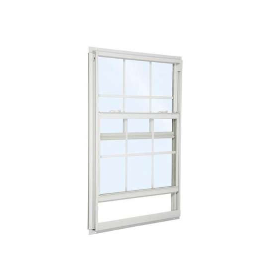 China WDMA Aluminum Single Hung Sash Window Sliding Vertical Window On Sales
