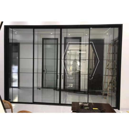 China WDMA Aluminum Soundproof Interior Sliding Glass Door Price