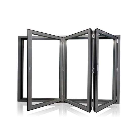 China WDMA Aluminum Storefront Vertical Hinged Sliding Bi-folding Single Glazed Windows