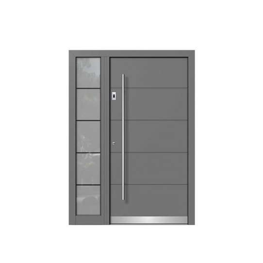 WDMA America Exterior Commercial Aluminium Insulated Tempered Glass Front Door Hinged Swing Door