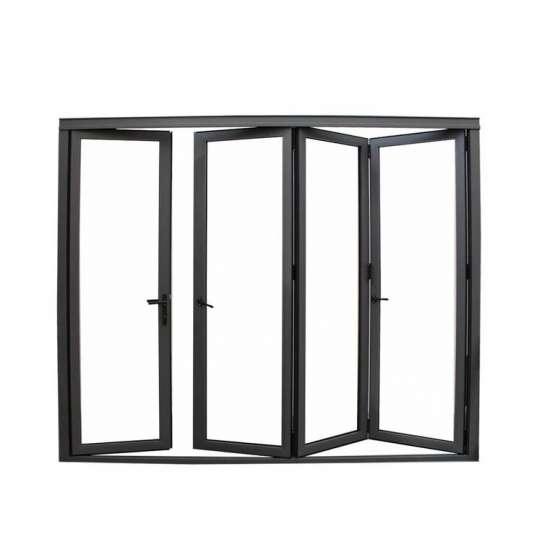 China WDMA America Standard 90 Degree Corner Bi-folding Patio Doors For Mountain House Condo