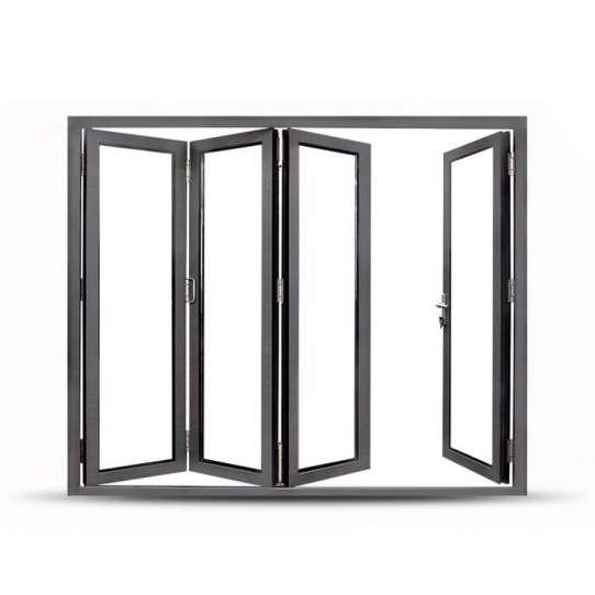 China WDMA Corner Vertical Bi-folding Doors