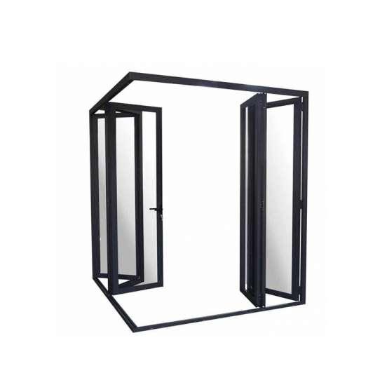 China WDMA American Standard Aluminum Pella Curved Folding Doors
