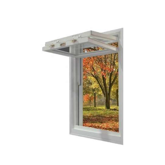 China WDMA American Vertical Roll Up Grid Folding Window For Bar
