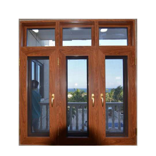 WDMA Analog Church Aluminum Windows And Doors With Grill Design Dubai