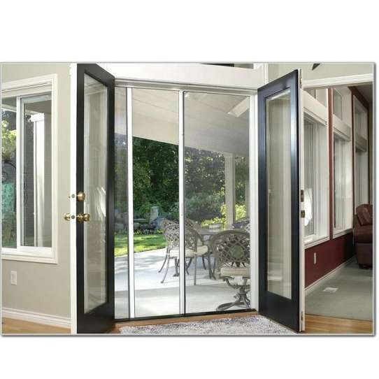 China WDMA Arch Arched Top Interior Storm Aluminium French Door With Glass