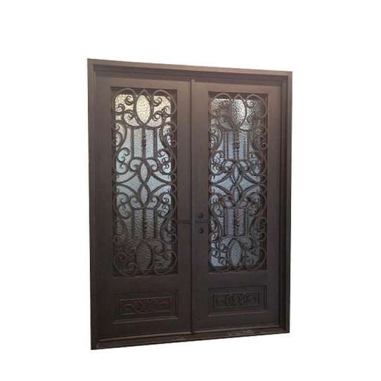 China WDMA Arch Rustic Security Wrought Iron Front Entry Accordion Door And Windows With Grill