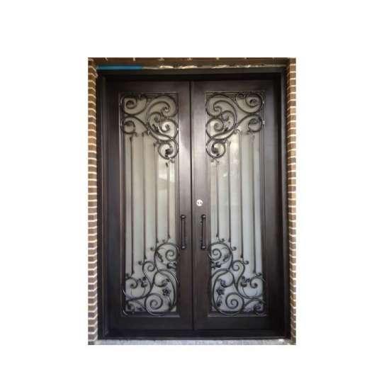 China WDMA front door iron wrought prices Steel Door Wrought Iron Door