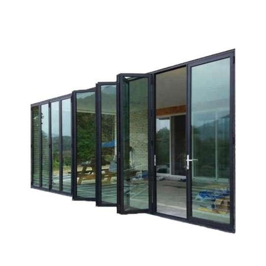 WDMA As2208 Standard Thermal Break Extrusion Profile Waterproof Bathroom Door Aluminum Bifolding Door
