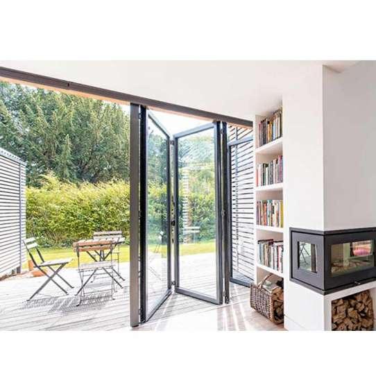 China WDMA Australia American Standard Alu Thermal Break Frame Insulated Glass Folding Door