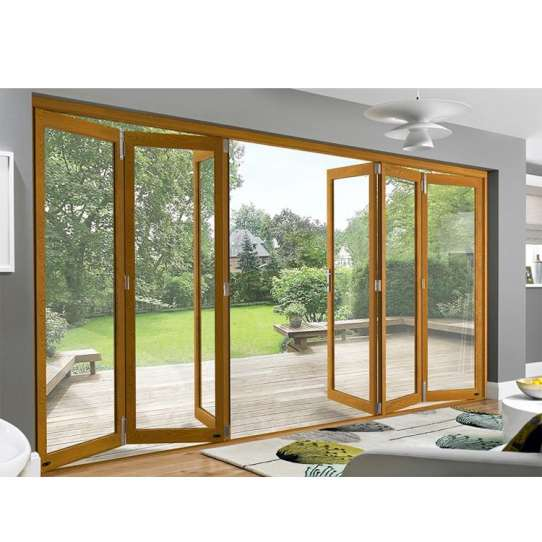 China WDMA Australian Standard 4 Panel Lowes Folding Style Sliding French Doors Exterior With Retractable Fiberglass Mosquito Net