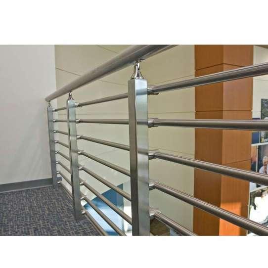 China WDMA Balcony Polish Stainless Steel Glass Railing Balustrade Handrail Baluster Systems Design