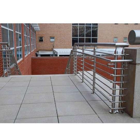 China WDMA glass railing stainless steel Balustrades Handrails