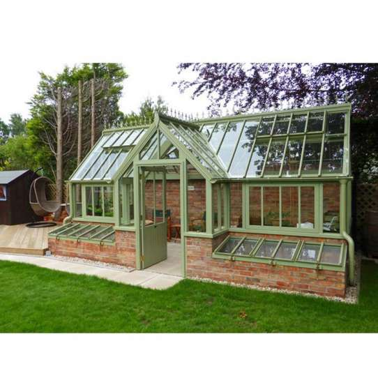 China WDMA Beautiful Design Glass Green Garden House Free Standing Sun Rooms Grey Color