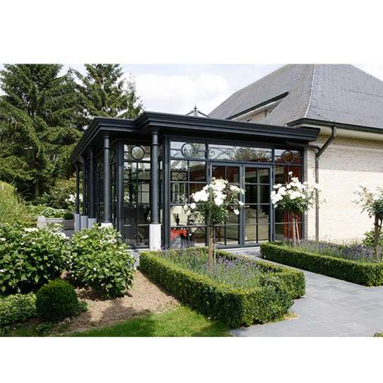 China WDMA Beautiful Simple Design Glass House Garden Room From China Factory Supplier