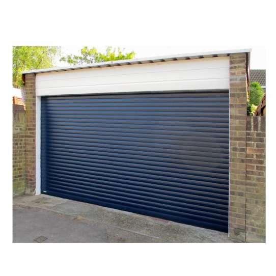 WDMA Best Quality Cheap Price Roller Vertical Bifold Style Smart Garage Doors With Pedestrian Door