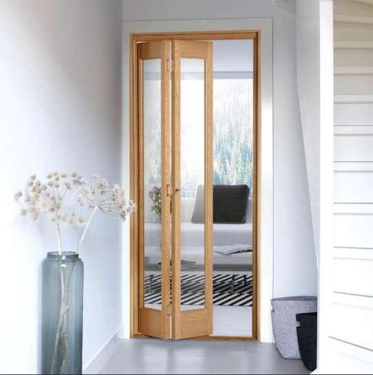 WDMA Bi Fold Wood Door In Patio For Houses