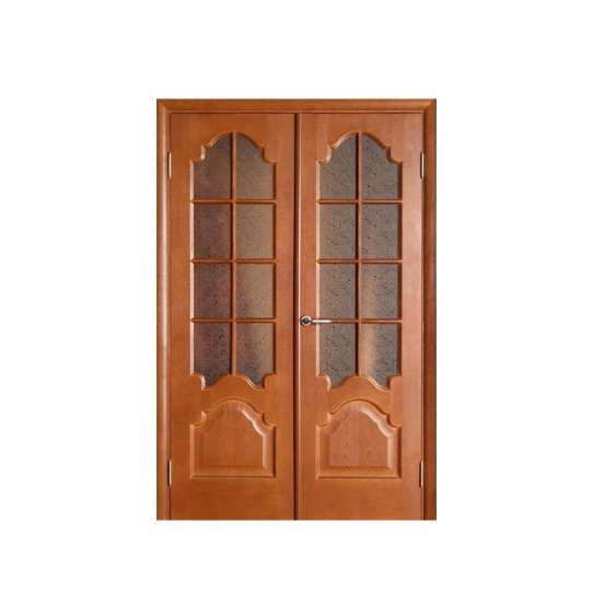 China WDMA Big Plywood Moulding Veneer Laminated Double Fireproof Wood Room Door gate For Shop Home Rooms