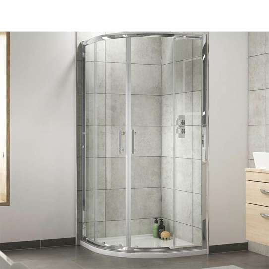 China WDMA curved glass shower door