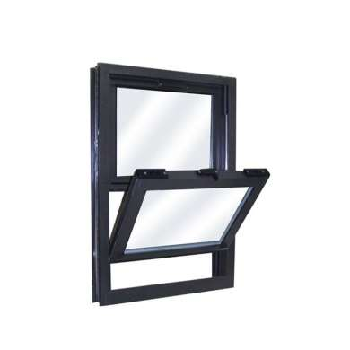 WDMA Champagne Black Color Remote Control Latest Aluminium Alloy Profile Framed Double Glazed Vertical Sliding Window With Mosquito N