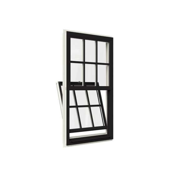 China WDMA Champagne Black Color Remote Control Latest Aluminium Alloy Profile Framed Double Glazed Vertical Sliding Window With Mosquito N