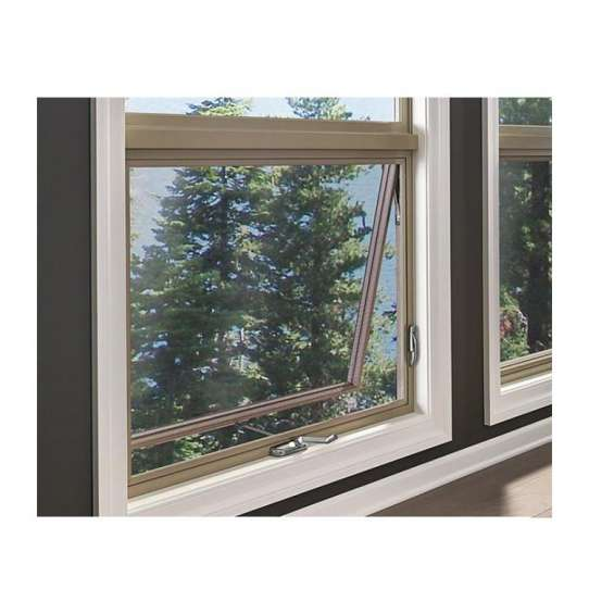 WDMA Cheap Champagne Colour 24 X 24 Chain Winder Aluminum House Casement Security Top Awning Hung Awning Window Bottom Fixed Windows