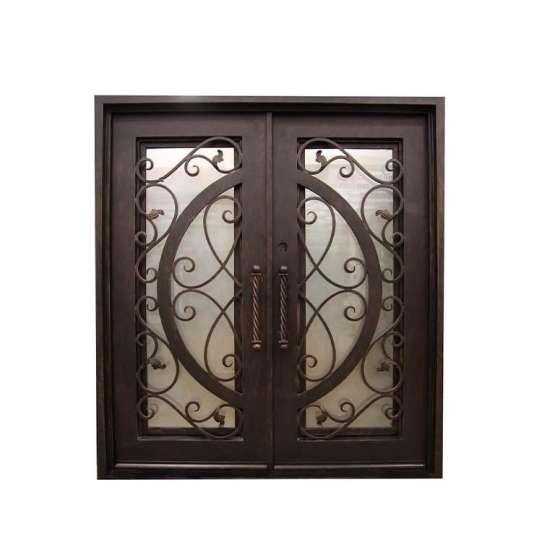 WDMA main door iron gate design Steel Door Wrought Iron Door