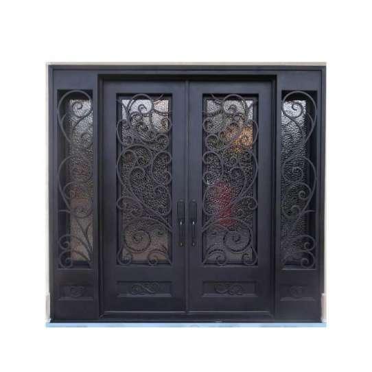 China WDMA main door iron gate design