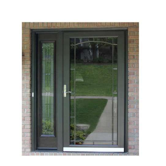 WDMA China Cheap Apartment House Interior Arch Aluminium French Glass Door For Sale