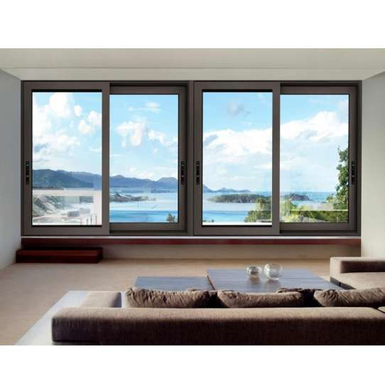 WDMA China Factory Aluminum Sliding Tempered Glass Window