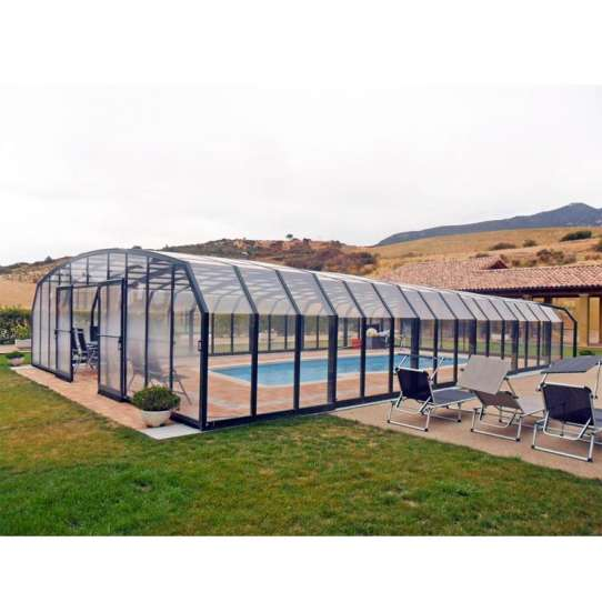 WDMA China Factory Curved Glass Polycarbonate Sunrooms Home Use