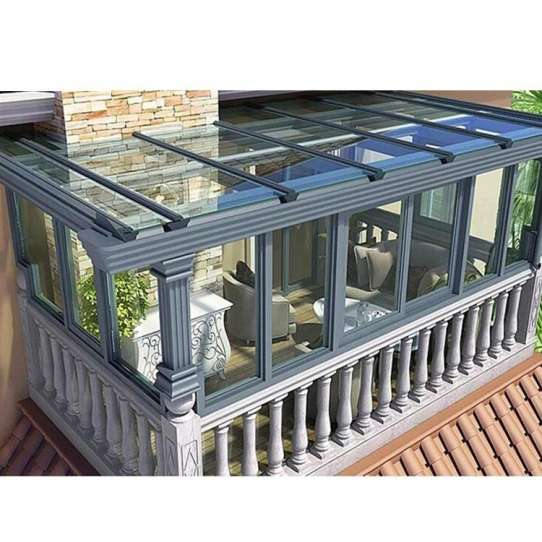 WDMA China Lean To Greenhouse Garden Sunrooms Laminated Glass Roof Panels Glass House