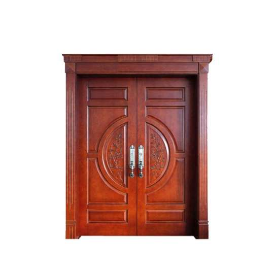China WDMA Double Wooden Door Carving Designs