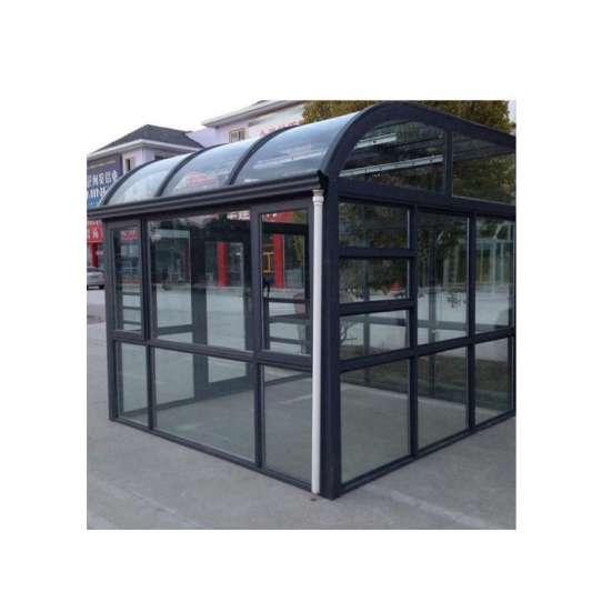 WDMA curved glass roof sunroom