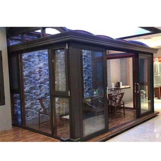 WDMA curved glass roof sunroom Aluminum Sunroom