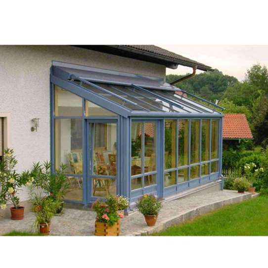 WDMA China Manufacturer Aluminum Lean To Sunrooms Glass Houses With Windows