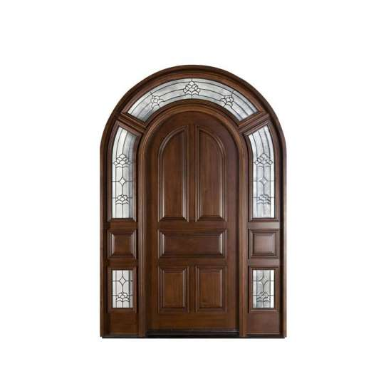 China WDMA China Produced Luxury Carved Interior Solid Wood Door