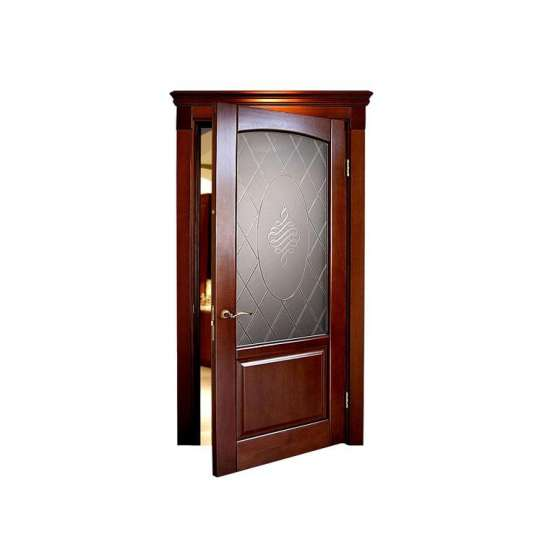 China WDMA luxury carved interior solid wood door